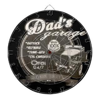 Faded Dad's Garage Dartboard