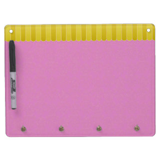 Faded Damask 7 Dry Erase Board With Keychain Holder