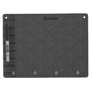 Faded Damask 9 Dry Erase Board With Keychain Holder