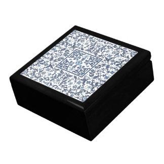 Faded Denim Blue Ornate Design Gift Box
