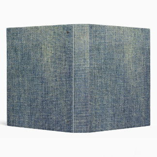 Faded denim fabric texture 3 ring binder