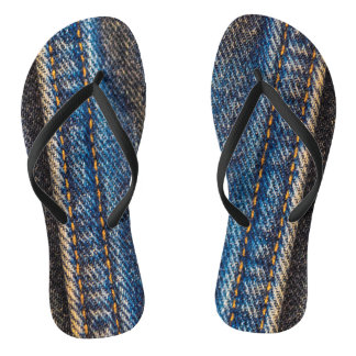 Faded Denim Flip Flops