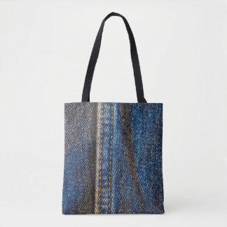 Faded Denim Tote Bag