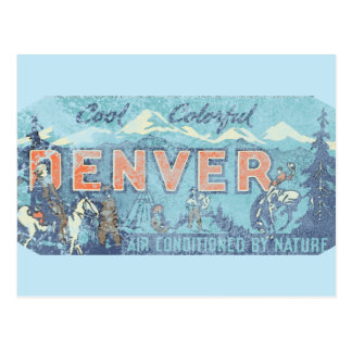 Faded Denver Postcard