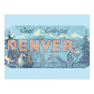 Faded Denver Postcard