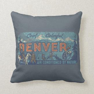 Faded Denver Throw Pillow