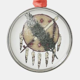 Faded Dreamcatcher Silver-Colored Round Ornament