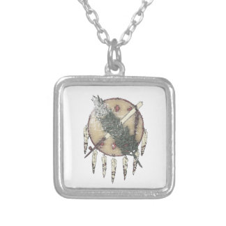 Faded Dreamcatcher Silver Plated Necklace
