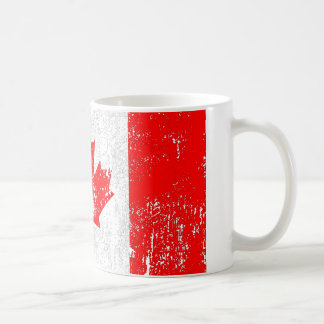 Faded Flag Of Canada Coffee Mug