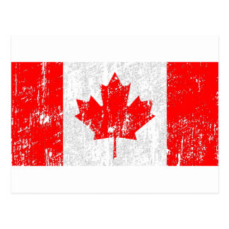 Faded Flag Of Canada Postcard