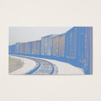 Faded Freight Train Business Card