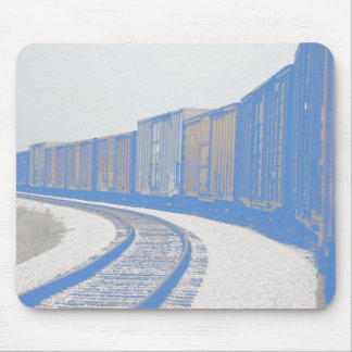 Faded Freight Train Mouse Pad