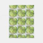 Faded Green Hypnotic Swirl Art Fleece Blanket