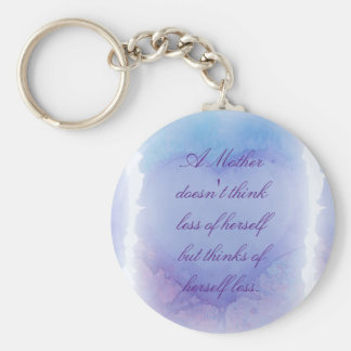 Faded Heart Mother's Day Basic Keychain