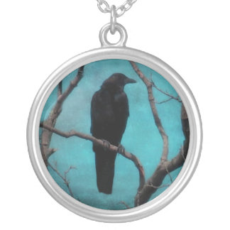 Faded Into The Aqua Blue Sky Silver Plated Necklace