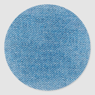Faded Jeans Classic Round Sticker