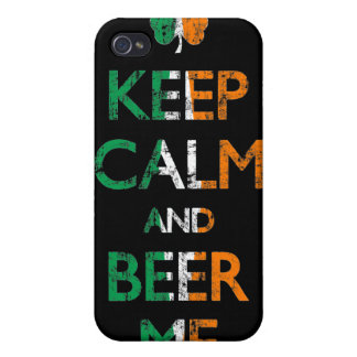 Faded Keep Calm And Beer Me Irish Flag i Cases For iPhone 4