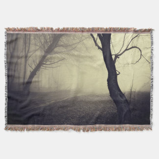 Faded Landscape Nature Mysterious Forest Blanket