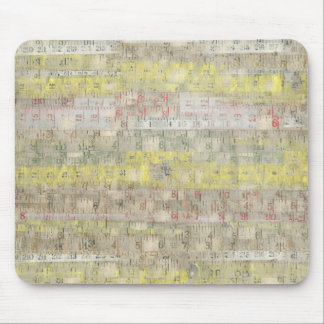 Faded Measuring Tape Background Mouse Pad