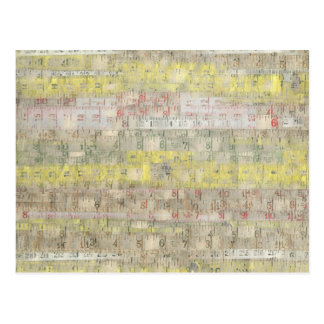 Faded Measuring Tape Background Post Cards