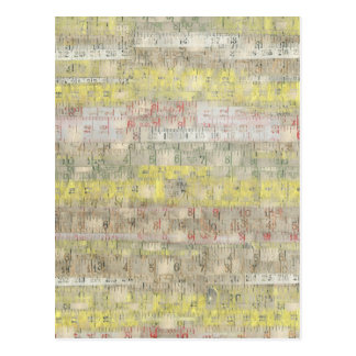Faded Measuring Tape Background Postcards