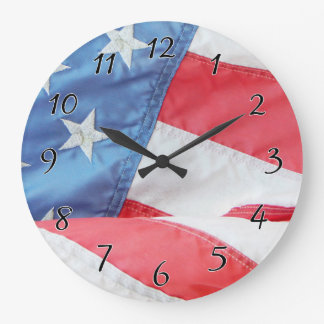 Faded Old Glory Clock