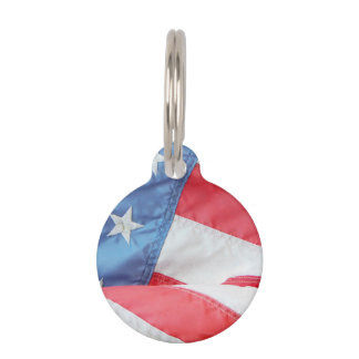 Faded Old Glory Pet Tag