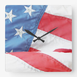 Faded Old Glory Wall Clock