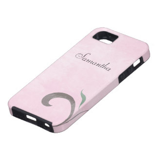 Faded Pink Flourish Case-Mate iPhone 5 Tough Case