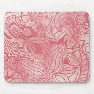 faded pink flowers collage mousepads