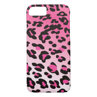 Faded Pink Leopard Spots iPhone 7 Case