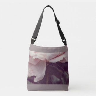 Faded pink rose crossbody bag