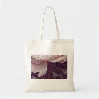 Faded pink rose tote bag