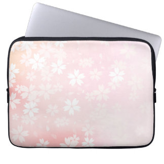 Faded Pink/White Cherry Blossom Computer Sleeve