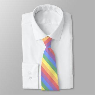 Faded Rainbow Flag Diagonal Stripe LGBT Pride Tie