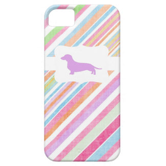 Faded Rainbow w/Dachshund iPhone 5 Cases