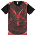 Faded Red Baphomet Symbol Airbrush Art All-Over-Print T-Shirt
