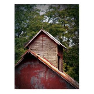 Faded Red Barn Cupola Postcard