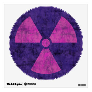 Faded Red Radiation Symbol Wall Decal