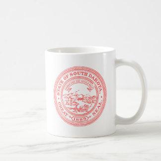 Faded Red South Dakota Coffee Mug