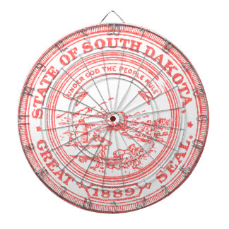 Faded Red South Dakota Dartboard