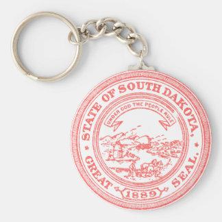 Faded Red South Dakota Keychain