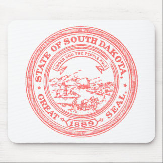 Faded Red South Dakota Mouse Pad