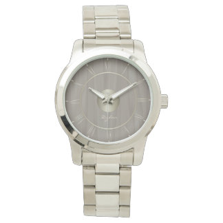 Faded sepia wood watch