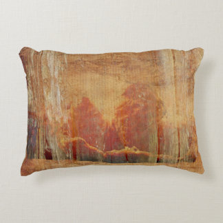 Faded tangerines decorative pillow