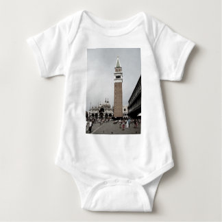 Faded Tower Baby Bodysuit