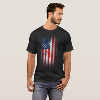 Faded USA Flag T-Shirt for Men and Women