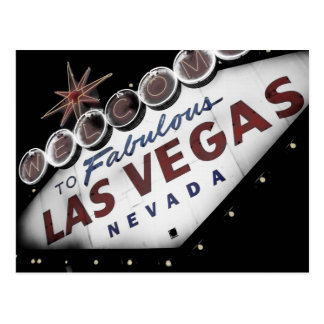 Faded Vegas Sign Postcard