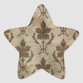 Faded vintage damask wallpaper star sticker
