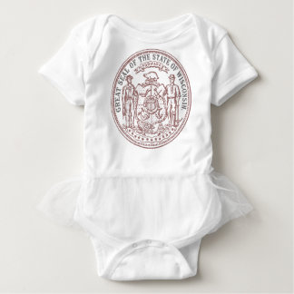 Faded Wisconsin Seal Baby Bodysuit